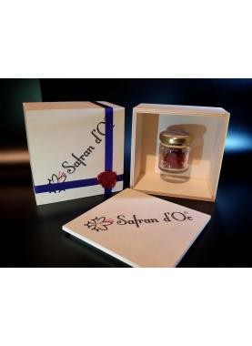 Safran coffret luxe 0,5 gr - Safran d'Oc